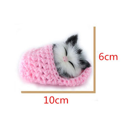 Wholesale Sound Shoes - 2017 new Super Cute Simulation Sounding Shoe Kittens Cats Plush Toys Kids Appease Doll Christmas Birthday Gifts