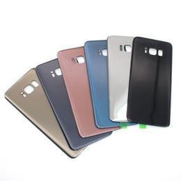 Pour Samsung Galaxy S8 SM-G950 S8 + plus Retour Couverture En Verre Logement Batterie Remplacement De La Porte Avec Ruban Adhésif Pièces Plaque Couleurs ? partir de fabricateur