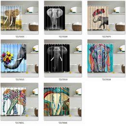 cortinas de crânio Desconto Impressão digital Crânios Coloridos Cortinas de Chuveiro Elefante À Prova D 'Água Poliéster Cortinas de Chuveiro Do Banheiro Cortina de Banho Frete Grátis