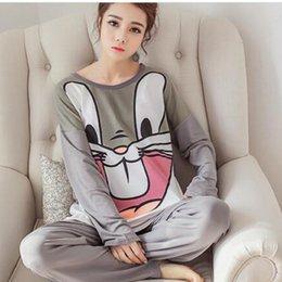Wholesale Rabbit Pyjamas - Wholesale- Rabbit Pyjama Femme Pijama Entero Mujer Pyama Woman Pijamas De Bichos Animal Pajamas For Women Nightwear
