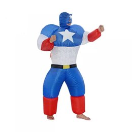 Wholesale Inflatable Superman - Hot sale Carnival Adult size inflatable superman mascot costume Cartoon Character Costumes for party