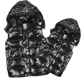 Wholesale Duck Down Jacket Womens - Classic brand Men and women winter down vest feather weskit jackets womens casual vests coat outer wear mens jacket size:S-XXXL