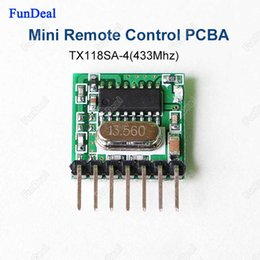 Wholesale Wireless Transmitter Arduino Wholesale - Wholesale- 433mhz Mini Wireless RF Remote Control EV1527 Learning code 433.92Mhz Transmitter For Gate Garage Doorbell Alarm Arduino ARM DIY