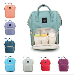 Wholesale Nurse Cases - Retail 14 Colors Fashion Mummy Maternity Nappy Bag Brand Large Capacity Baby Bag Travel Backpack Desinger Nursing Bag for Baby Care