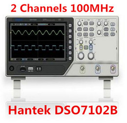 Wholesale Sampling Rate - 2016 New Hantek DSO7102B USB Digital Storage Oscilloscope 2Gsa s Real Sample Rate 2 Channels 100MHz 64K Memory Depth