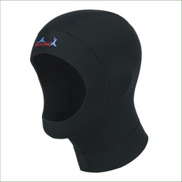 Wholesale Winter Swim Caps - DC01H 1mm neoprene diving hat professional uniex swimming cap winter cold-proof wetsuits head cover diving helmet
