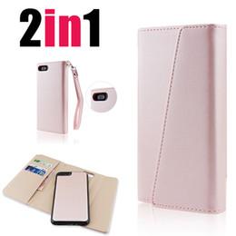 2019 faltende magnetische brieftasche Premium-Luxus-Handytaschen für iPhone 6, 7, 8, X, abnehmbarer magnetischer Schnappverschluss mit Kartenfächern Dreifach gefaltete Leder-Brieftaschenhülle für SCA319 rabatt faltende magnetische brieftasche