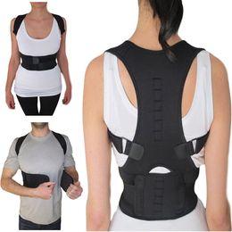 Wholesale Medical Braces Supports - Magnetic Posture Support Corrector Back Waist Brace Belt Posture Corrector Backs Medical Belt Lumbar Corset with Packkage
