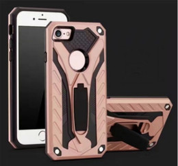 Wholesale Designer Iphone Phone Case - Phantom Series 2in1 Hybird Phone Case Kichstand TPU Metal Five Color Dirt-resistant Designer Customize Phone Cases