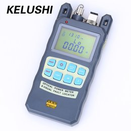 Wholesale Power Cable Test - Wholesale- KELUSHI FTTH All-IN-ONE Fiber Optical Power Meter -70~+10dbm 1mw 5km Cable Tester Red Laser Visual Fault Locator Testing Tool
