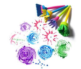 2017 4 Pcs Enfants Peinture Brosse Fleur Timbre Enfants DIY Graffiti Dessin Jouets Moins Cher Meilleur (Taille: 4 Pcs / Set) ? partir de fabricateur