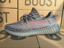 Wholesale Shoes Zebra Color - Beluga 2.0 SPLY-350 Boost V2 Beluga2.0 Boost 350 V2 SPLY Running shoes Gray Zebra Bred Triple White Black 13 Color