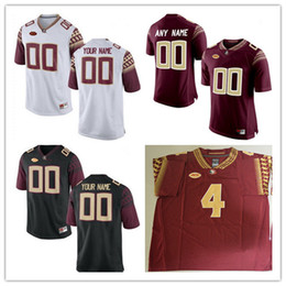 Wholesale Florida State Jerseys - Florida State Seminoles College Football Custom #2 3 4 5 12 80 White Black Red Limited Stitched Personalized Any Name Number Jerseys S-3XL