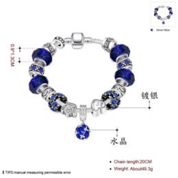 Wholesale Food Discount - Big discount DIY Beads Jewelry Fit Original pandora Bracelets Silver plated Charm bracelet for Women Pulseira Gfit