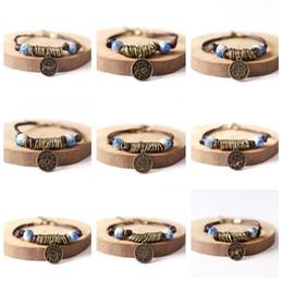 Wholesale Art Enamels - Free shipping Artificial original twelve constellations of art ceramic bracelet FB498 mix order 20 pieces a lot Slap & Snap Bracelets