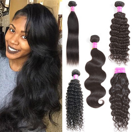 Wholesale Cheap Virgin Brazilian Hair Extensions - Peruvian Brazilian Virgin Hair Body Wave Straight Deep Curly Mix Texture Remy Human Hair Weave Bundles Daily Deals 8a Cheap Hair Extensions