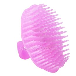 Wholesale Massage Shower Head Brush - Wholesale- New 2016 Brand Bath Brush Hot Sale Washing Hair Massage Shampoo Brush Comb Shower Body for bathroom product