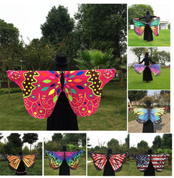 Wholesale butterfly robes - 2017 Multi-style 147*70cm Bohemia Printed Beach Towel cartoon Butterfly Design Beach Shawl Yoga Mat