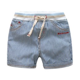 Wholesale Color Elastic Waistband - Boys clothing Shorts for boy Cool Striped short Boutique clothing With Knit Waistband Draw cord 2017 summer Cotton wholesale High quality