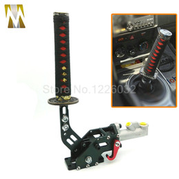 Wholesale Universal Handbrake - Universal Drifting Hydraulic Handbrake with 215MM Samurai Sword Handle Black JDM