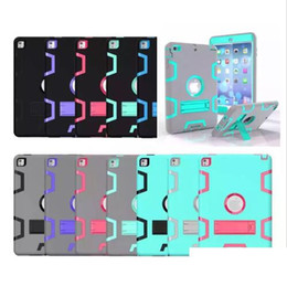 Wholesale Ipad Full Body - For iPad mini 1 2 3 Case Kids Safe Shockproof Heavy Duty Rubber Armor Rugged 3-Layer Full-body Protective Cover Case w Kickstand