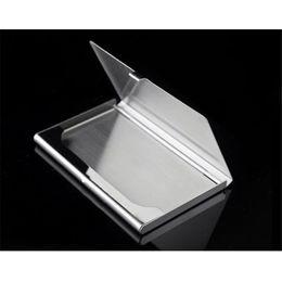 Оптовая-наивность новая мода из нержавеющей стали серебряный цвет алюминиевый бизнес ID кредитной карты держатель чехол AUG04 drop доставка от