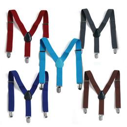 Wholesale Pants Braces Strap - Wholesale-Children  kids baby strap pants  trousers Suspenders adjustable and Brace Elastic clip belt