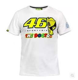 Wholesale Motorcycle Bike Gps - Free shipping 2016 New Summer Rossi VR46 White Motorcycle Bike Motocross T-shirt Moto GP T shirt MOTO DH Downhill MX MTB JERSEY