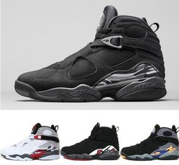Wholesale Cheap Boots Free Shipping - Cheap 8 Basketball Shoes 2016 New Men Boots High Quality Black Grey Sneakers Cheap Men's Sports Shoes Free Drop Shipping 41-47