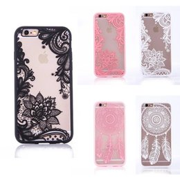 Wholesale Two Phones One Case - Bohemia IndonesiaCell Phone Cases Transpare flower phone shell Dreamcatcher Phone shell 6 7plus acrylic two-in-one shell 006
