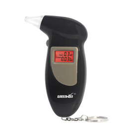 Wholesale Digital Breath Testers - GREENWON Factory price High Accuracy Quick Response LCD Digital Alcohol Tester Key Chain Breathalyzer Breath Analyze Free Shipping