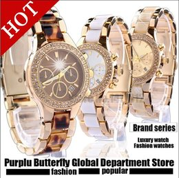 Wholesale rose strip - 2017 Elegant New High Quality Luxury Crystal Diamond Watches Women Gold Watch Steel Strip Rose Gold Sparkling Dress Wristwatch Drop Ship