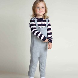 Wholesale Baby Boy Winter Overalls - New Spring Children Kids Candy Color Girls Boy Harem Pants Knit 1-5yrs Girls Overalls Cute Kids Suspender Trousers Baby Clothes
