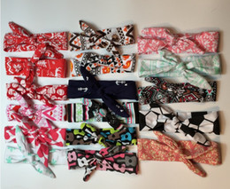 Wholesale Fashionable Hair Styles - 2016 Fashionable Bohemian Style Baby Boy Girl Hair Band Colorful Head Banddecorative pattern High Quality Bow Hair Accessories Q0425
