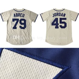 Wholesale Men s Chicago White Sox Jose Abreu baseball jerseys stitched Michael Jordans Majestic Cream Fashion Cool Base Player Jersey