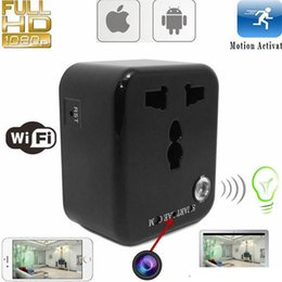 Wholesale Ac Adapter Camcorder - HD Wifi Wall Charger Hidden Camera 1080P Spy Socket IP Camera AC Adapter Plug Video Recorder Home Security Surveillance Camcorder