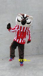 Wholesale Deluxe Mascot - Deluxe Bucky Badger Mascot Costume Mr Fox Costume Free Shipping