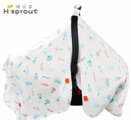 Wholesale car seat covers summer - Baby Carseat Canopy 8styles Newborn Car Seat Cover Cool In Summer sunshade Premium Stroller shadow 114*90CM