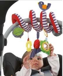 Wholesale Babyplay Stroller - Wholesale- Baby rattles cute Infant babyplay baby toys activity spiral bed & stroller toys set hanging bell crib Rattle toys for baby