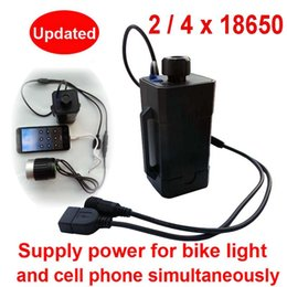 Wholesale Port Bike - New Waterproof 18650 battery box case for bike light bicycle lamp power bank box for phones with DC USB Dual ports