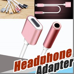 Wholesale Jack Phone Adapter - 2 in 1 Colorful 3.5 mm Headphone Jack Adapter For Phone Earphone Charger Cable High Quality