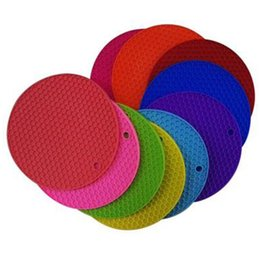 Wholesale Round Trivet - 7inch 18cm Silicone Pot Holder, Trivet Mat, jar Opener, spoon Rest Non Slip Coaster, Flexible Durable Heat Resistant Hot Pads