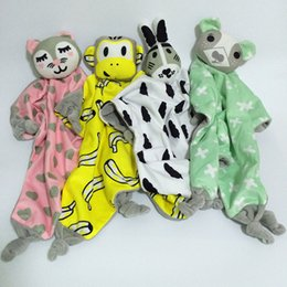 Wholesale Styles Baby Doll - 40*45cm Appease Towel Baby Toy INS Explosion Models Bibs Can Chew Toy Baby Doll Cat Rabbit Bear monkey Children Plaything 6 styles C1808