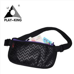 Wholesale Waterproof Zipped Pouches - Playking Running Waist Bag Waterproof Travel Sport Belt Money Wallet Pouch Thin Outdoor Sports Pack Hiking Mini Zip Bag Nylon