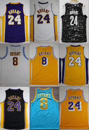 Wholesale Retro S - Basketball Jerseys 24 Throwback Black Kobe Bryant Rookie No.8 Retro Stitched Basketball Shirt MPLS MENS Cheap Jersey