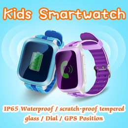 Wholesale Gprs Watches - GPS Tracker Kids Smart Watch DS18 IP65 Waterproof For Kids SOS Emergency Anti-Lost GPRS GSM WiFi SOS Children Safe Wristwatch Remote Monitor
