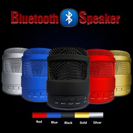 Wholesale Usb Sound Card Price - S13 S13U S11 S10 A8 A9 Microphone Design Mini Wireless Bluetooth Speaker Portable Stereo Sound TF USB Mp3 Music Player Wholesale Best Price