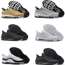 Wholesale M Cushion - High quality New Men Air Cushion 97 Breathable Low Running Shoes Cheap Massage 97s Flat Sneakers Sports Outdoor Shoes