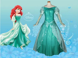Wholesale Ariel Costumes - OISK Custom Made fairy tale mermaid Ariel princess dress for christmas carnival women adult size costumes