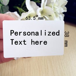 Wholesale Wedding Favor Sticker Labels - Wholesale- 60 pcs 2.5inches*1.5 inches lagrge Personalized Return Address Label Customised Wedding Invitation Thank You label stickers